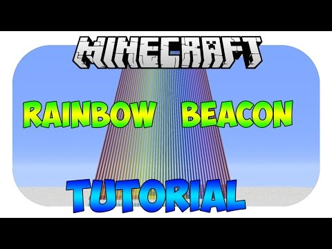 how to make a rainbow beacon in minecraft pe