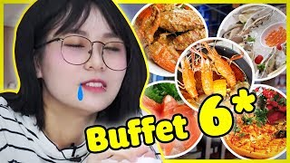 BUFFET HẢI SẢN 6 SAO SANG CHẢNH || THY ƠI MÀY ĐI ĐÂU THẾ ??? || THAILAND TRIP #2