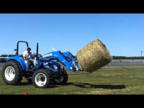 Bale Challenge With New Holland T4 PowerStar