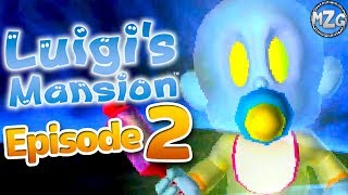 Luigi's Mansion 3DS Gameplay Walkthrough - Episode 2 - Chauncey Boss! Area 1 Completed! (3DS)