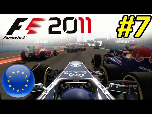 F1 2011 Career Mode Part 7: The most unlikely Overtake!