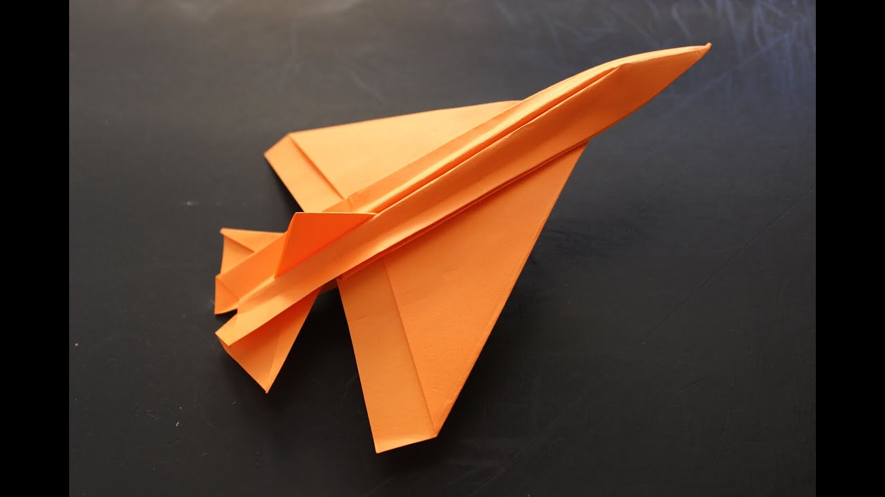 how to make a cool paper plane origami instruction jet