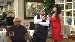NBA Playoffs: Cedric the Entertainer, Niecy Nash, and Cee Lo Green on Set of The Soul Man