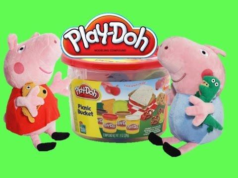 Пластилин Свинка Пеппа - из пластилина Плей до DIY