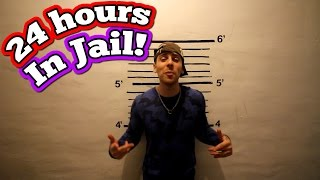(GHOSTS!) 24 HOUR OVERNIGHT CHALLENGE IN JAIL// 24 HOUR OVERNIGHT FORT CHALLENGE IN HAUNTED PRISON!