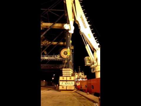 165t Load test on MacGrecor ship crane