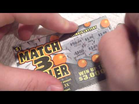 Match 3 Tripler Illinois Lottery Ticket video