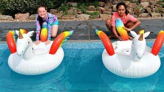 UNICORN POOL CHALLENGE!! Pikmi Pops Lollipops | Toys AndMe