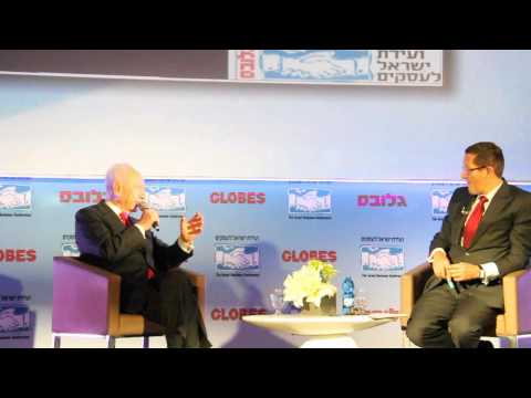 President Peres and Richard Quest on Globes Israel Business Conference 2012