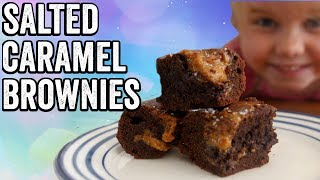 SALTED CARAMEL CHOCOLATE BROWNIES