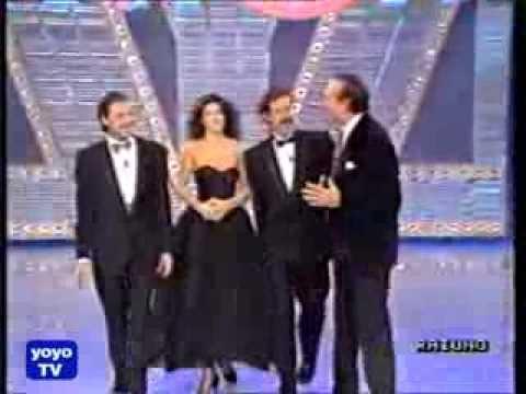 il trio ospite a fantastico 90 Massimo Lopez, Tullio Solenghi e Anna Marchesini.