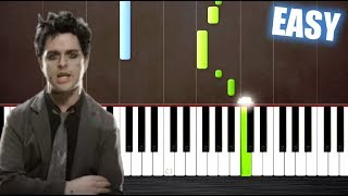 Download Lagu Green Day - Boulevard Of Broken Dreams - EASY Piano Tutorial by PlutaX Gratis STAFABAND