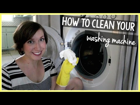 how to clean a front end loader washing machine