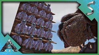 THE BEST WAY TO FARM GACHA CRYSTALS! OWL PELLET TOWER BUILD! - Ark: Extinction [DLC Gameplay E29]