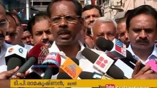 Fire accident in Mittai Theruvu; TP Ramakrishnan and AK Saseendran visits the place