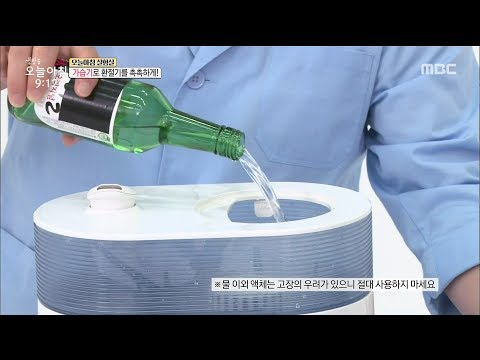 [LIVING] experiment with alcohol in a humidifier ,생방송 오늘 아침 20191002
