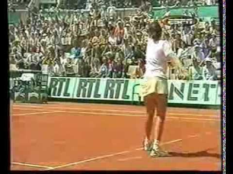 Inés Gorrochategui vs. Steffi Graf en Roland Garros '99, por ESPN