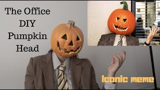 THE OFFICE DIY PUMPKIN HEAD COSTUME
