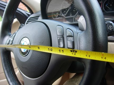 Bmw E46 M3 Smg Shift Paddle Sport Steering Wheel Retrofit