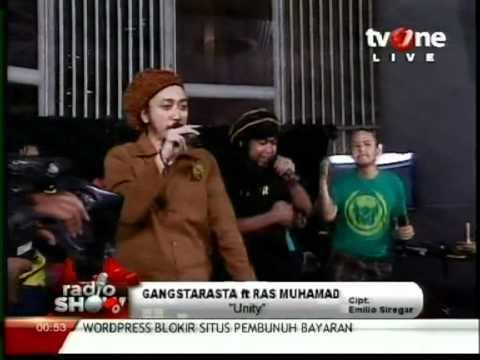 GangstaRasta feat. Ras Muhamad - Unity Live in TV One, March 2012
