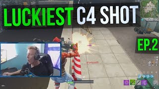 LUCKIEST C4 SHOT - Tfue Fortnite Twitch Highlights #2