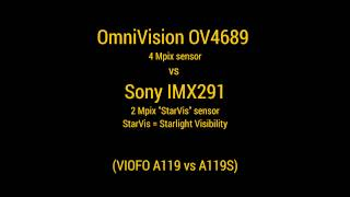 "OV4689 vs Sony IMX291 ""StarVis"" - night time sensor demo"