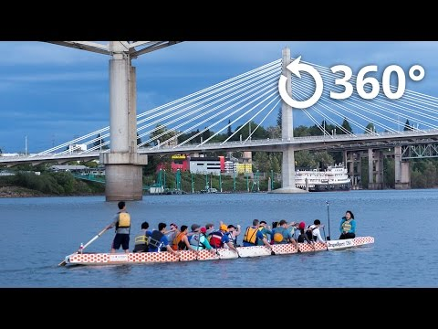 Dragon Boat Racing Practice With Portland Team Anniemaniacs 360 Video