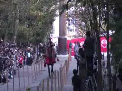 近江神宮の流鏑馬が初の6月開催、祭神・天智天皇にちなむ「時の記念日」にあわせてのキャプチャー