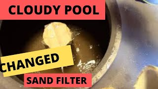 My pool is cloudy: DIY Change Sand In My Pool Filter.