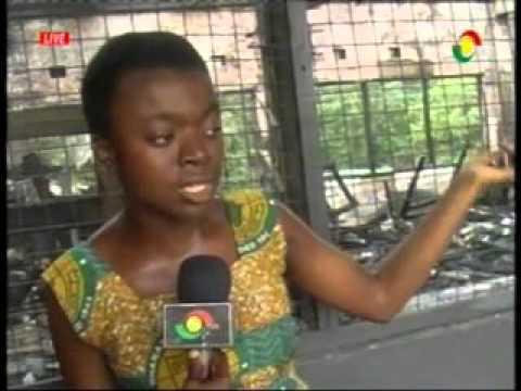 News360 - Ghana Senior high sch  girls dormitory gutted by fire, Koforidua - 18/3/2016