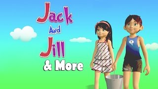 Jack and Jill went up the Hill | 3D Animation English Nursery Rhymes for Children | Kids Songs