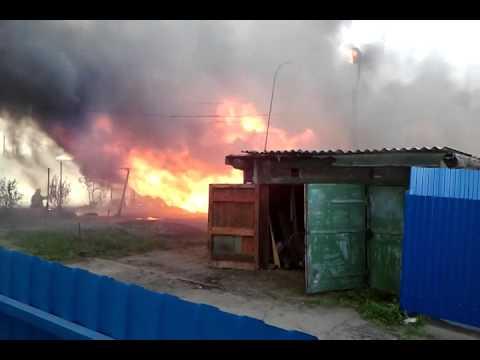 Пожар в Красном Яру Любинского района Омской области