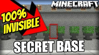 Minecraft PS4 - INVISIBLE SECRET BASE - Tutorial ( PS3 / XBOX / WII U / PE )