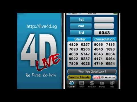 http://live4d.sg - Singapore 4D result live broadcast Wed,Sat,Sun at 6:33pm!