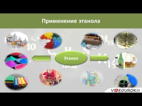 Видеоурок по химии Понятие о спиртах