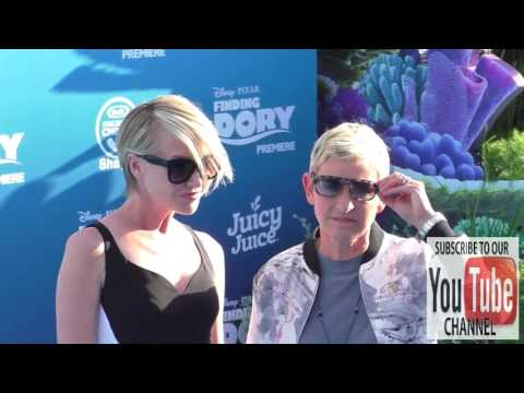 Portia de Rossi and Ellen DeGeneres at Finding Dory Premiere at El Capitan Theatre in Hollywood