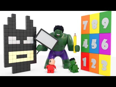 Superhero Babies Learn Numbers With Batman Bricks Bulding - Superhero Babies Cartoons For Kids