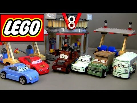LEGO Flo's V8 Cafe CARS 2 Complete Set Buildable Toys 8487 how-to Build with Launcher Disney