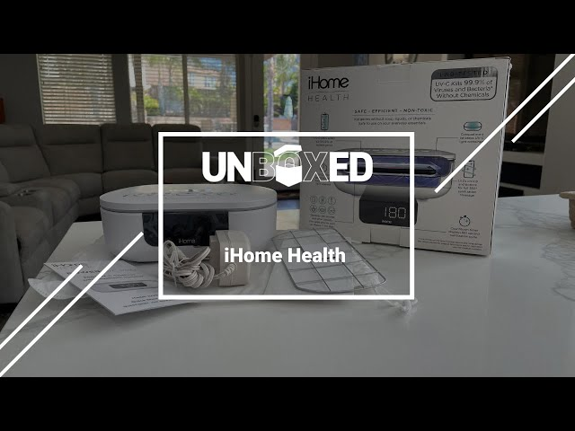 拆箱:iHome Health 360度UV-C SUNITIZER带蓝牙音箱