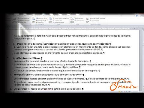 Tutorial Word 2010 - Formatos de página, hipervínculos, tabla de contenidos, configuraciones