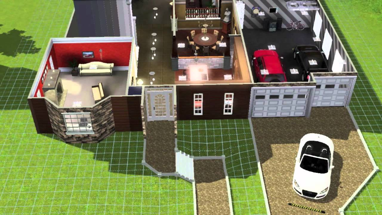 Building a large family home on the sims 3 youtube for Sims 3 family home ideas