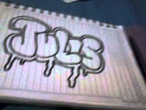 Nombres en graffitis faciles - Imagui