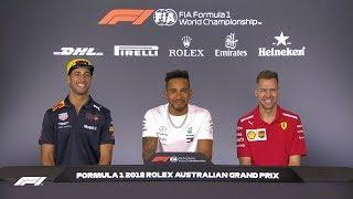 2018 Australian Grand Prix: Pre-Race Press Conference