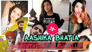 Aashika Bhatia Birthday Wishes From Top Musers From Musical.ly In Musicaly style| Avneet Kaur..