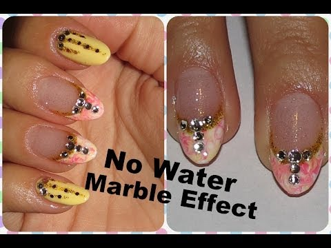 Bright Pastel Nail Design,No Water Marble Effect,FOR BEGINNERS