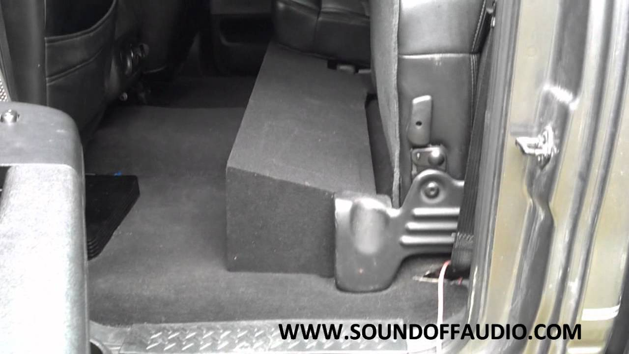 2004 2008 Ford F150 Super Crew Or Supercab Dual Subwoofer