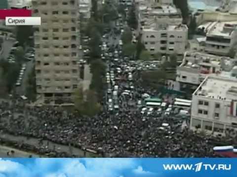 Сотни тысячи сирийцев вышли с флагами РФ