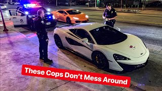 LA POLICE THREATEN SUPERCAR OWNER OVER FAKE REGISTRATION...