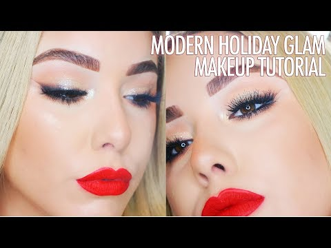 MODERN CLASSIC HOLIDAY GLAM MAKEUP TUTORIAL | VLOGMAS127 DAY 6
