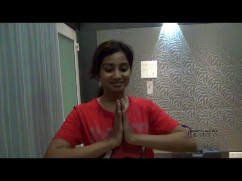 Shreya Ghoshal in Andar Bahar Movie | Making of  Song Maleyali Ninda [HD]